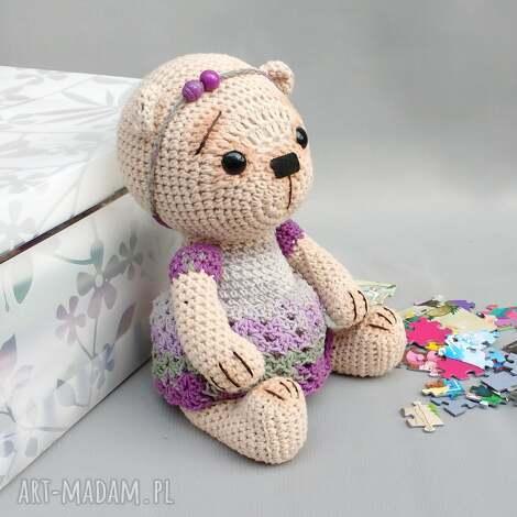 maskotki miśka marcela, miś, zabawka, przytulanka, bawełniana, dziecko, niemowlę dla