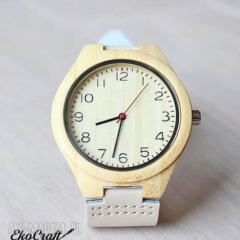 drewniany zegarek bamboo nordic style, zegarek, drewniany, bambusowy, jasny, nordycki