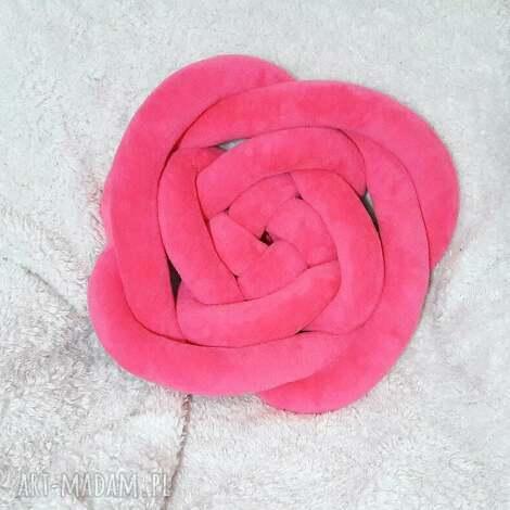 poduszki poduszka dekoracyjna supeł róża knot pillow rose, handmade