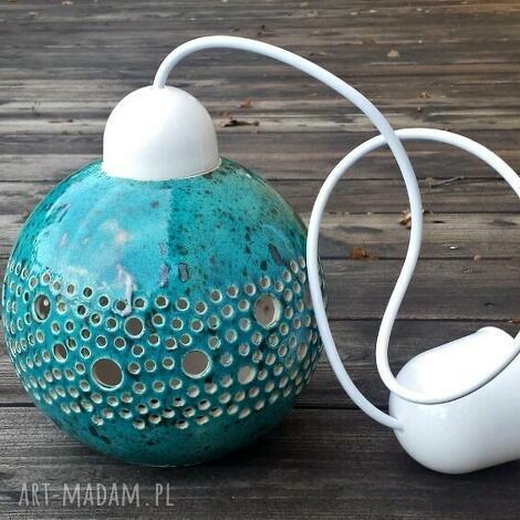lampy ball lampa wisząca turkusowa, lampa, lampka, sufitowa, wisząca, kula, lampion