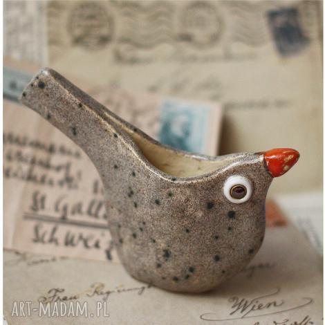 wyjątkowy prezent, pojemnik ptaszek, pojemnik, ceramika, ptak