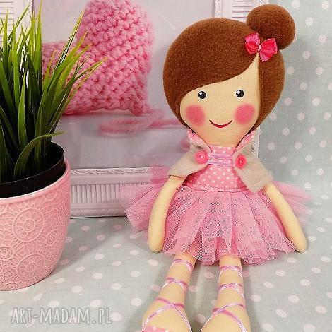 lalki baletnica w pudrowych odcieniach, lalka, zabawka, przytulanka, prezent