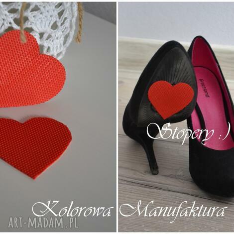 stopery antypoślizgowe ślub , buty, ślub, czerwone, serce