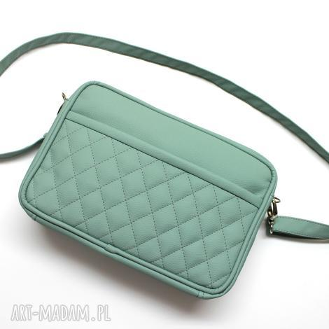 mała torba miejska - miętowa, elegancka, nowoczesna, praktyczna, handmade, prezent