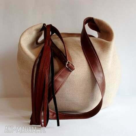 hobo, handmade, listonoszka, czerwona na ramię torebki