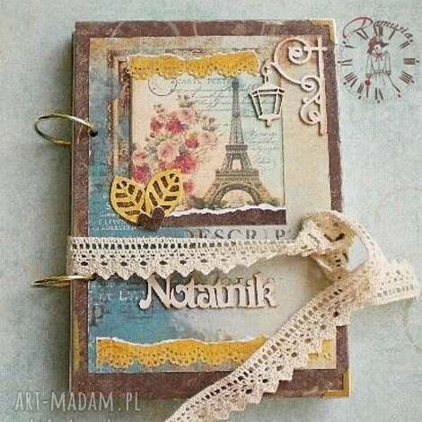 prezent na święta, notatnik w stylu paryskim, paryski, notatnik, wieża, eiffla, rower