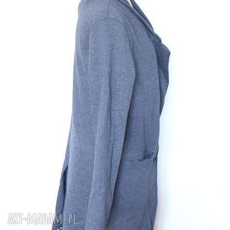 szary damski dzianinowy dresowy płaszcz , płaszcz, dresowy, wiosna, lato, dzianina