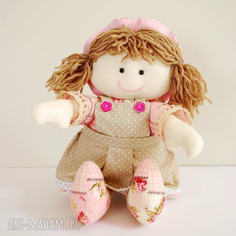 lalka, lala, zabawka, przytulanka, szmacianka, różowa dla dziecka