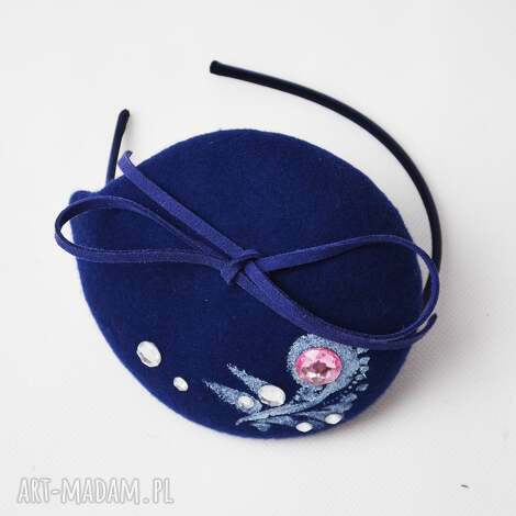 filemonka niebieska, niebieski, filc, toczek