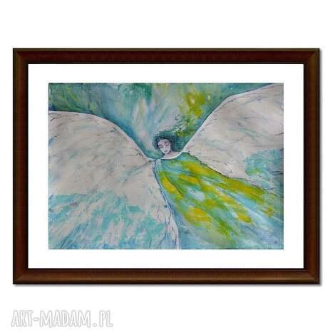 anioł aajoel, akwarela, anioł, obraz, malarstwo, dekoracja dom
