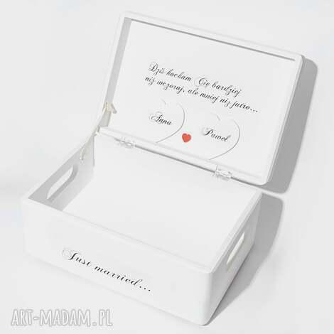 księgi gości ślubne pudełko na koperty kopertówka personalziowane just married