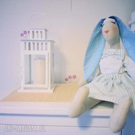 maskotka przytulanka królik handmade niebieska, maskotka, przytulanka