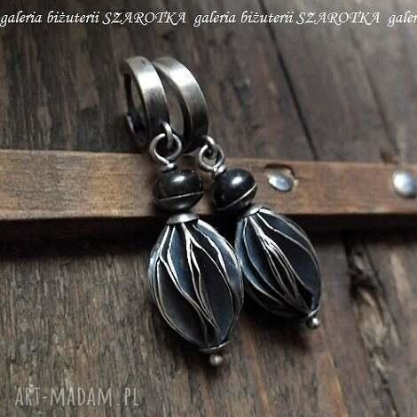 kolczyki dostojne z naturalnych pereł i srebra, perła, naturalna, rzeczna