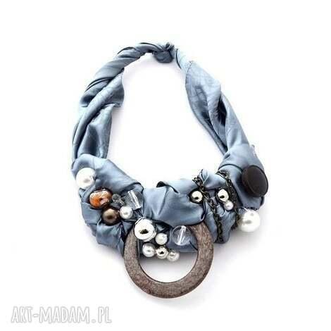 silver rocket naszyjnik handmade - naszyjnik, handmade, szary, srebrny, grafit, metaliczny
