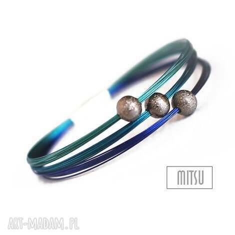 bransoletki kobalt, kobaltowe, niebieskie, turkusowe, eleganckie, proste, pod