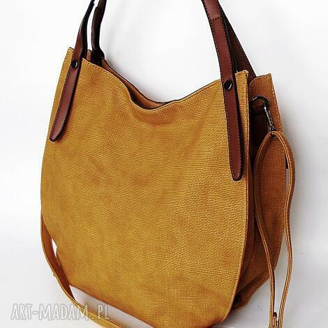 miodowa torba na ramię - torba, torebka
