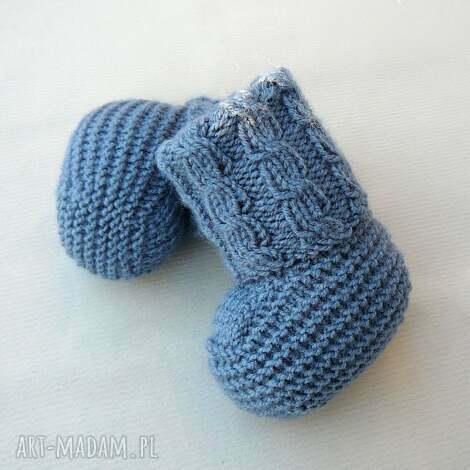 skarpetki newborn z warkoczem, skarpetki, buciki, wełniane, ciepłe, niemowlę, prezent