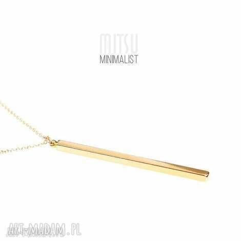 sztabka złota na długim łańcuszku, kreska, sztabka, geometryczne, minimalizm, długie