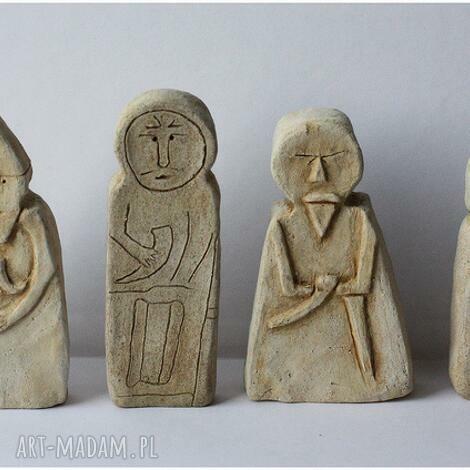 ceramika zestaw 6 bab pruskich, figurka, ceramika, posążek