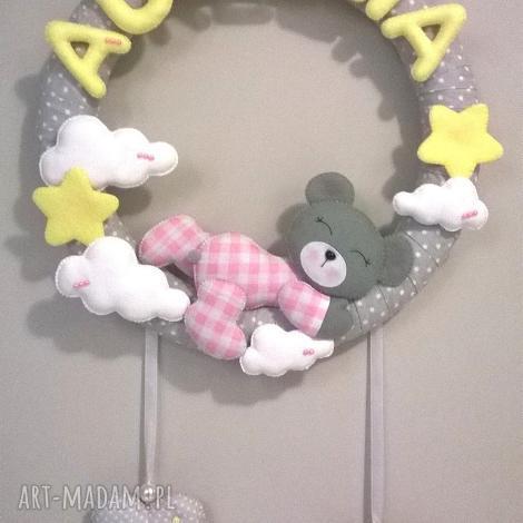 personalizowana girlanda z imieniem dziecka - girlanda, dekoracja, filc, dziecko, prezent