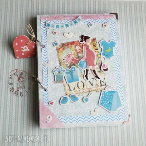 scrapbooking notesy pamiętnik ciążowy i planer, dziennik, notes, ciąża, planer