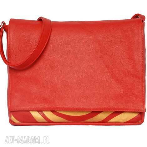 teczki 35-0007 czerwona torebka aktówka damska do szkoły i na studia robin, modne