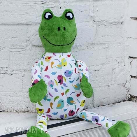 pan żaba, maskotka, handmade, nietypowe, minky, zabawka dla dziecka, pod