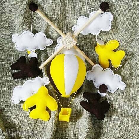 karuzela nad łóżeczko - samoloty - wzÓr - karuzela, baloniki, ozdoba