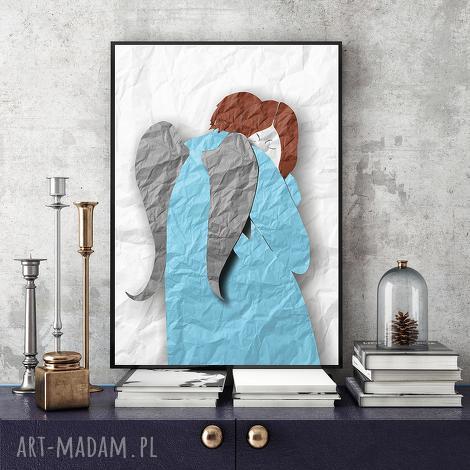 anioł ii a4, anioł, grafika, wydruk, obraz dom