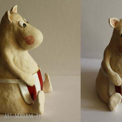 ceramika mama muminka, figurka, ceramika, bajka, unikalny prezent