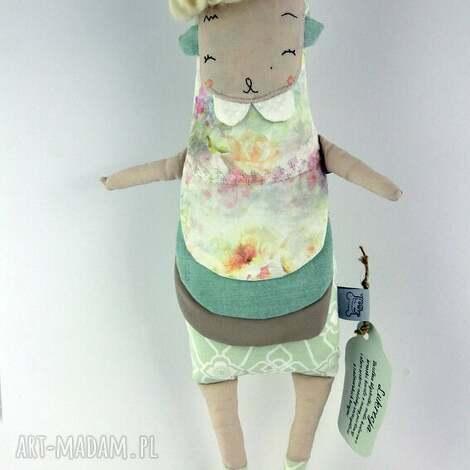 maskotki lukrecja lalka przytulanka hand made, lalka, prezent, pastelowy, roczek