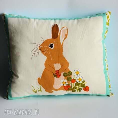 motylarnia poduszka leśna - zajączek, poduszka, królik, zając, sypialnia, dziecko