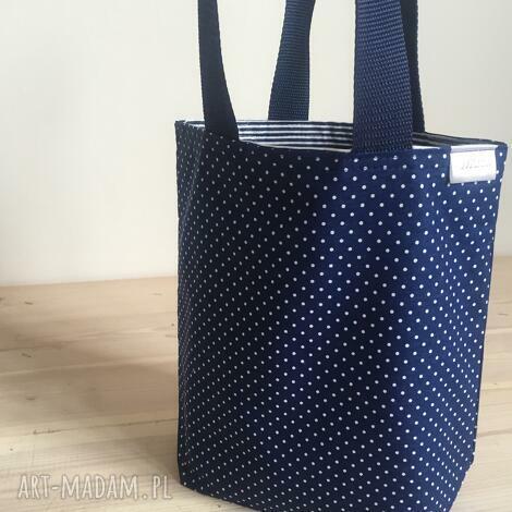 lady with blue, kropki, śniadanie, lunch, box, pudełka, prezent torebki