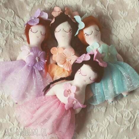 bajka mini - calineczka , laleczka, wróżka, tiul, spódniczka, kolorowa, wianek dla