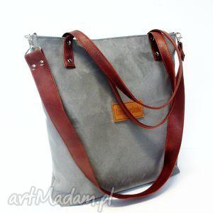 shopper bag - torba, szara, modna, wygodna, trendy
