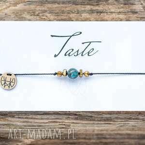 unikalny prezent, bransoletki whw taste african turquoise, delikatna, sznurkowa
