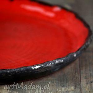 Truskawka w czekoladzie 3 Patera Ceramiczna, talerz, obiadowy, patera, gliniana