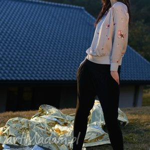 spodnie czarne sunbyoushi, spodnie, damskie, wiosna, lato, alladynki ubrania