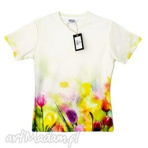 Artystyczny t-shirt damski Jakość PREMIUM!, tulipany, wiosenne, kwiaty, bluzka, modna
