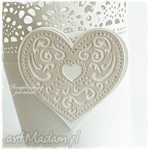 jelonkaa koronkowe serce - zestaw magnesów zam pani honorata, serce, magnes