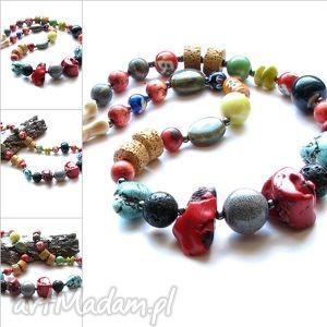 KoraleTribal Mix., nszyjnik, korale, kamienie, biżuteria, tribal, awangarda