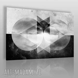 obraz na płótnie - abstrakcja geometria 120x80 cm 40501 , koła, trójkąty, chmury