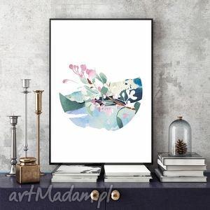 grafika kwitnąca gałązka jabłoni ilustracja a4, ilustracja, kwiaty, jabłoń