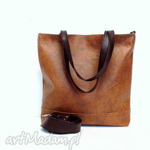 shopper bag, torba, brązowa, modna, uszyta, wygodna, handmade torebki, święta