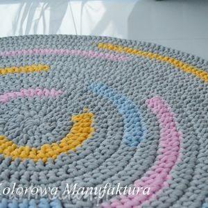 dywan rainbow 100cm - dywan, tęcza, kolorowy, bawełniany, chodnik