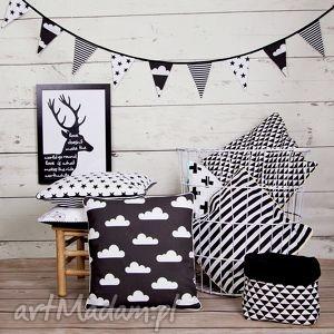 pod choinkę prezenty, girlanda czarno-biała, girlanda, chorągiewki, czarny, baner