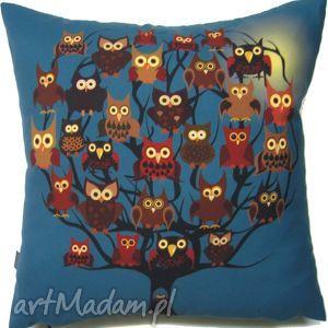 Prezent Poduszka dekoracyjna z sowami, poduszka, dekoracyjna, prezent, oryginalna