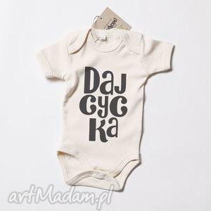 yurcov daj cycka body niemowlęce eko, body, dziecko, nadruk, smieszne, bawelna, eko