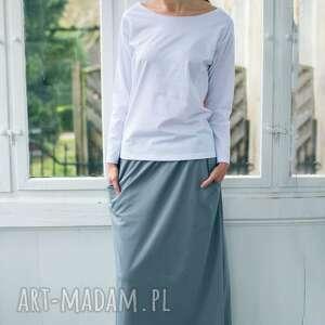 minimal white bluzka oversize, longsleeve, bluzka, moda, casual, bawełna