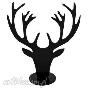 czarny stojak na biżuterię jeleń, stojak, glowajelenia, poroze